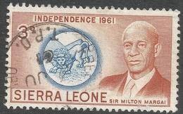 Sierra Leone. 1961 Independence. 3d Used. SG 227 - Sierra Leone (1961-...)