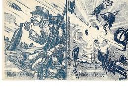 WW1 ANTI ALLEMANDE QUALITE DES OBUS DIFFERENTE !  CPA 2 SCANS - Humoristiques