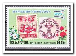 Noord Korea 2008, Postfris MNH, Flowers, Stamp On Stamp - Korea (Noord)