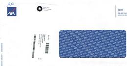 Étiquette Du Point Poste Merca Fruits, La Louvière Res-052 Sur Enveloppe Format 11,5 X 23 Cm - Autres