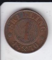 MONEDA DE NORUEGA DE 1 SKILLING DEL AÑO 1870  (COIN) - Noruega