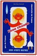 """BUVARD ELECTRICITE & GAZ De FRANCE """"Deux Atouts Maîtres"""" L'EAU CHAUDE - Electricity & Gas"""
