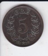 MONEDA DE NORUEGA DE 5 ORE DEL AÑO 1876  (COIN) - Noruega