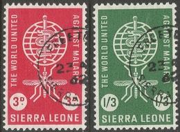 Sierra Leone. 1962 Malaria Eradication. Used Complete Set. SG 240-1 - Sierra Leone (1961-...)