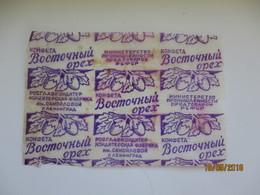RUSSIA USSR , EAST NUT , VOSTOCHNY OREKH ,   CANDY WRAPPER , LENINGRAD , O - Chocolate