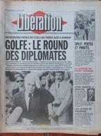Libération 31 Août 1990 - Golfe - Split - Front National - Ultras De Roumanie - Etats Généraux Documentaire - 1950 - Oggi