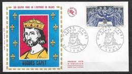 FDC   Lettre Illustrée Premier Jour Senlis Le 10/11/1967 N°1537 Hugues Capet  TB  Soldé à Moins De 20 % ! ! ! - FDC