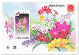 Noord Korea 2001, Postfris MNH, Flowers, Orchids - Korea (Noord)