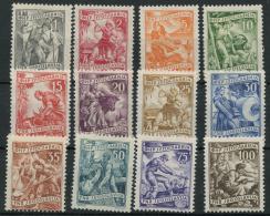 Yougoslavie (1952) N 588 A 599 (charniere) - 1945-1992 Repubblica Socialista Federale Di Jugoslavia