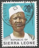 Sierra Leone. 1972 President Siaka Stevens. 20c Used SG 584 - Sierra Leone (1961-...)