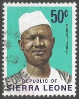 Sierra Leone. 1972 President Siaka Stevens. 50c Used SG 586 - Sierra Leone (1961-...)