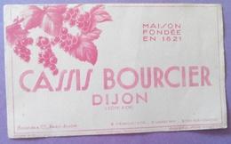 Buvard Cassis Bourcier Dijon Maison Fondée En 1821 - Liquor & Beer