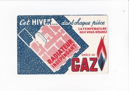 CET HIVER DANS CHAQUE PIECE  / GRACE AU GAZ / RARE - Electricidad & Gas