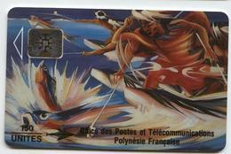 PF14A Pêche Aux Cailloux 150u SC5 Recto Mat / Verso Rose (n° De Lot 00196) - French Polynesia