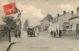SAINT CALAIS CIRCUIT DE LA SARTHE 1906 PASSAGE A NIVEAU COURSE AUTOMOBILE - Saint Calais