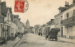 CONNERRE CIRCUIT DE LA SARTHE 1906 ARRIVEE A CONNERRE  COURSE AUTOMOBILE - Connerre