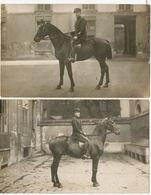 4 Cartes Photo Regiment De Cavalerie Cheval - Regimenten