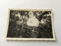 Petite Photo D Un Résistant Du Vercors Avec Un Américain - 1939-45