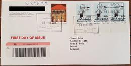 Lebanon NEW 2018 Travelled FDC : Caricaturist Mahmoud Kahil, 8 MARS 2018 - Lebanon