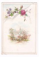 Jolie Chromo Paysage Fleurs Sans Publicité, Dos Vierge - Chromos