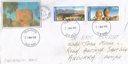 Karlu Karlu / Devils Marbles & Flinders Ranges. Hautes Faciales $ 14.50, Sur Lettre Adresse Andorra - Brieven En Documenten