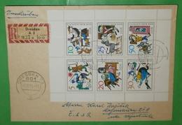 DDR - Einschreiben - Brief Registered Cover Freimarken Und- /oder Sondermarken Motive (2 Foto)(35660) - DDR