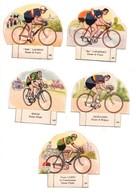 LE PETIT GROS JEAN LA VACHE SERIEUSE : 5 Découpis Cyclistes - Immagine Tagliata