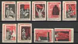 """СПИЧЕЧНЫЕ ЭТИКЕТКИ СРЕДНЕ-ВОЛЖСКИЙ СНХ ФАБРИКА """"1 МАЯ"""" -2 1965г - Matchbox Labels"""