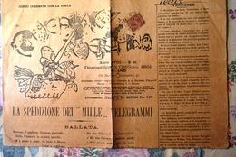 """""""GUERRIN MESCHINO"""" Anno XVIII--N°41-Domenica 8 Ottobre 1899-MILANO -Un Numero 10 Centesimi-4 Pagine- - Ante 1900"""