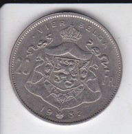 MONEDA  DE BELGICA DE 20 FRANCS DEL AÑO 1932  (COIN) - 1909-1934: Albert I