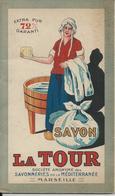 MARSEILLE SAVON LA TOUR SAVONNERIE DE LA MEDITERRANEE ANNEE 1920 PETIT CARNET DE BLANCHISSAGE 16 PAGES VIERGE - Unclassified