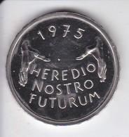 MONEDA DE SUIZA DE 5 FRANCS DEL AÑO 1975  (COIN) HEREDIO NOSTRO FUTURO - Suiza