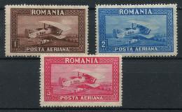 Roumanie (1928) PA N 1 A 3 (charniere) - Poste Aérienne