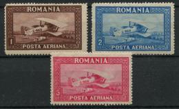 Roumanie (1928) PA N 1 A 3 (charniere) Ondulé Horizontales - Poste Aérienne