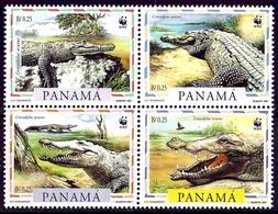 PANAMA 1997 (Yvert 1138-41) - WWF Crocodile (MNH) Sans Trace De Charnière - 028 - Panama