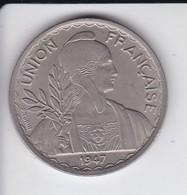 MONEDA DE FEDERATION INDOCHINOISE DE 1 PIASTRE DEL AÑO 1947  (COIN) - Colonias