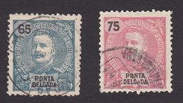 Ponta Delgada, Scott #23-24, Used, King Carlos, Issued 1897 - Ponta Delgada