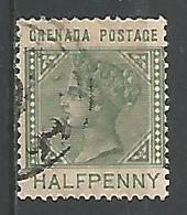 Victoria 1/2p Vert - Grenada (...-1974)