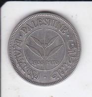 MONEDA DE PLATA DE PALESTINE DE 50 MILS DEL AÑO 1935  (COIN) SILVER-ARGENT - Colonias