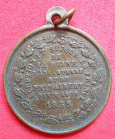 1855 Médaille Souvenir Venue à Paris Reine D'Angleterre Et Prince Albert Diam 2.3 Cm Cuivre 4gr - Royaux / De Noblesse