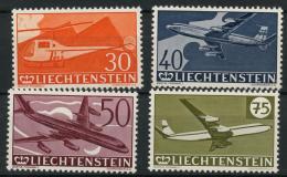 Liechtenstein (1960) PA N 34 A 37 (charniere) - Poste Aérienne