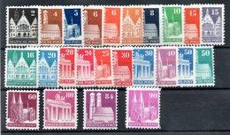 Allemagne Bizone USA / Série N 41 à 64 / Monuments  / NEUFS** - Bizone