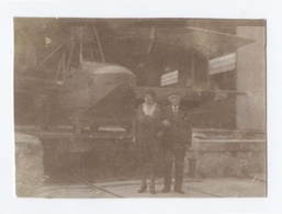 PHOTO DE 7X5 CM  --ANTIBES--BAS DE HYDRAVION --1934  ----RECTO/VERSO- B7 - Aviation