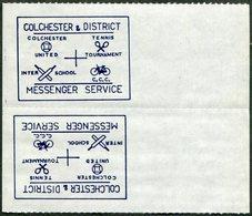 CYCLING UK GB Colchester STRIKE POST Local Cycle Mail N/V TÊTE-BÊCHE Velo Bike Bicycle Football Soccer Tennis Cricket - Cycling