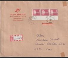 D 1306) BRD 1982 Mi# 1135 (3) Re Rand MeF R-Brief 8 München 15 P 25.-5.84 Nach Leer: Brau-Anlage, Bier - Beers