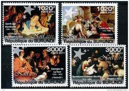 BURUNDI - 2011, Christmas   Serie Cpl. 4v.  Nuovi** - Burundi