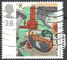 Gran Bretagna - 1993 Europa, 28p Print, Kew Gardens, # S.G. 1768 - Michel 1452 - Scott 1499 USED - Oblitérés