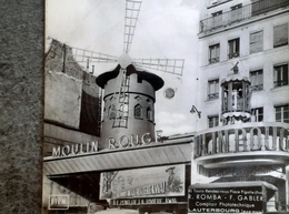 Paris Moulin Rouge Carte Postale Musicale Disque 45 Tours Musique Rendez-vous Place Pigalle (fox) Romba Gabler - Autres Monuments, édifices