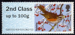 GB 2015 QE2 2nd Class Post & Go Redwing Bird Unused No Gum ( 1222 ) - Great Britain