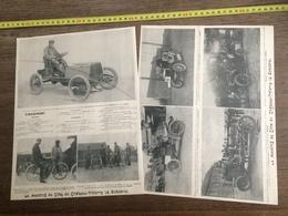 1903 AUTOMOBILE MEETING DE COTE CHATEAU THIERRY LAMBERJACK MOTOCYCLETTE GRIFFON PEUGEOT MICHELIN - Collections